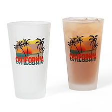 California Beaches Sunset Drinking Glass