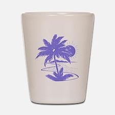 Violet Palm Beach Silhouette Shot Glass