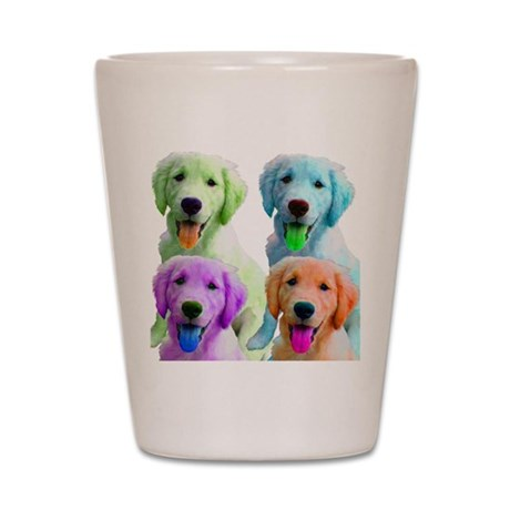 Golden Retriever Warhol Shot Glass