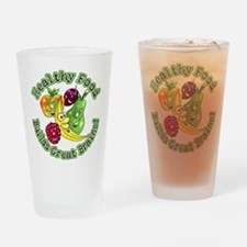 Healthy Food Builds Great Bra Drinking Glass