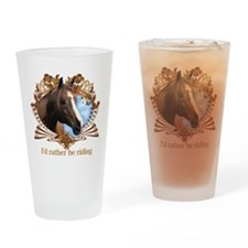 Horseback riding Drinking Glass