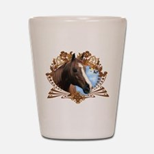 Horse Lover Crest Graphic Shot Glass
