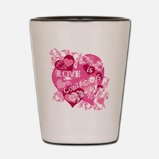 Love is Contagious Abstract Shot Glass
