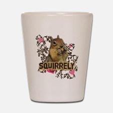 Squirrely Squirrel Lover Shot Glass