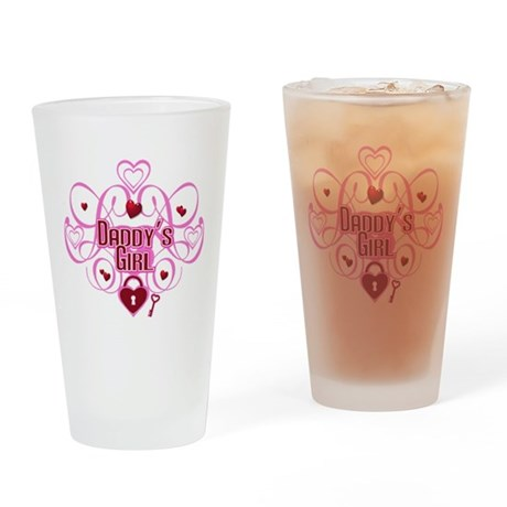 Pink - Daddy's Girl Drinking Glass
