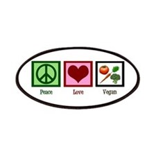 Peace Love Vegan Patches