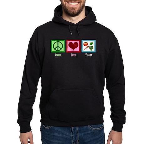 Peace Love Vegan Hoodie (dark)