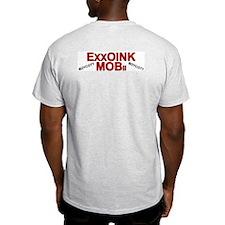 """ExxOink MOB-ill"" Ash Grey T-Shirt"