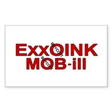 """""""ExxOink MOB-ill"""" Rectangle Decal"""