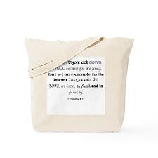 1 Timothy 4:12 Tote Bag