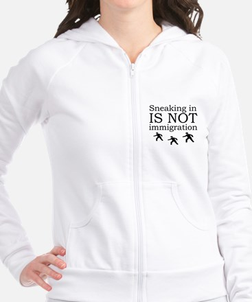 Sneaking's not Immigration Fitted Hoodie