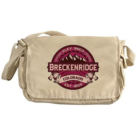 Breckenridge Raspberry Messenger Bag