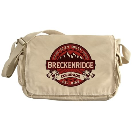 Breckenridge Red Messenger Bag