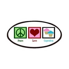 Peace Love Cupcakes Patches