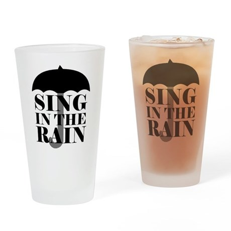 'Sing in the Rain' Drinking Glass