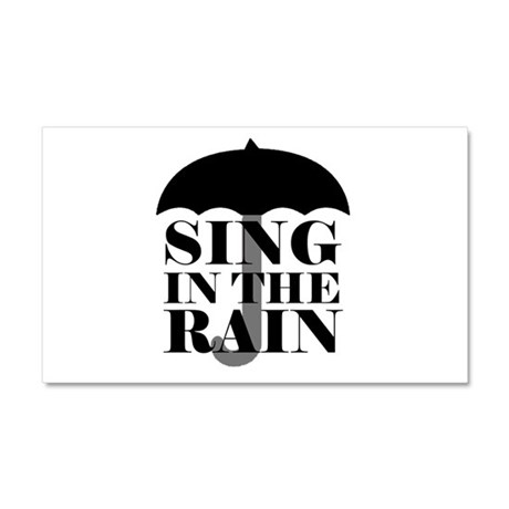'Sing in the Rain' Car Magnet 20 x 12