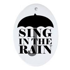 'Sing in the Rain' Ornament (Oval)