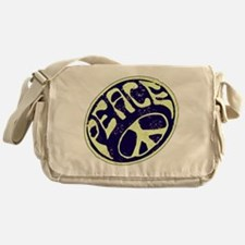 Vintage Peace Symbol #V9 Messenger Bag