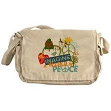 Rainbow Peace Abtract Art Messenger Bag