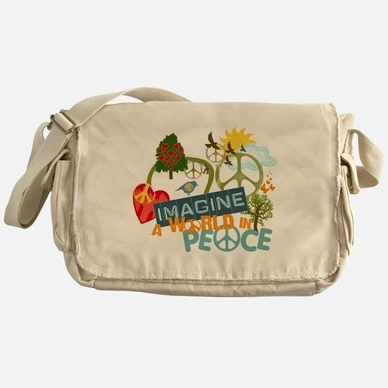 Rainbow Peace Abtract Art Messenger Bag