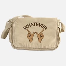 Whatever Hand Gesture Messenger Bag