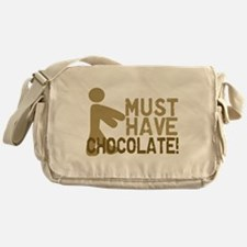 Must Have CHOCOLATE! Zombie Messenger Bag