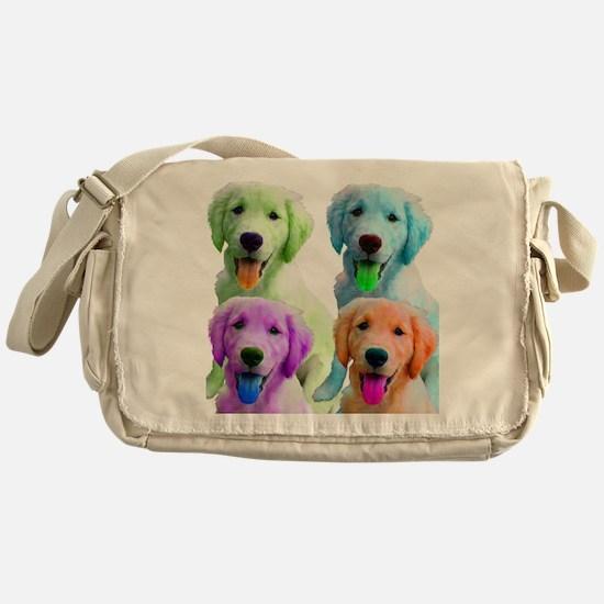 Golden Retriever Warhol Messenger Bag