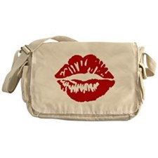 Red Lips / Lipstick Kiss Messenger Bag