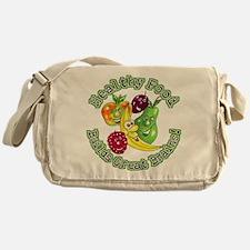 Healthy Food Builds Great Bra Messenger Bag