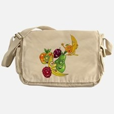 Healthy Happy Fruit Messenger Bag