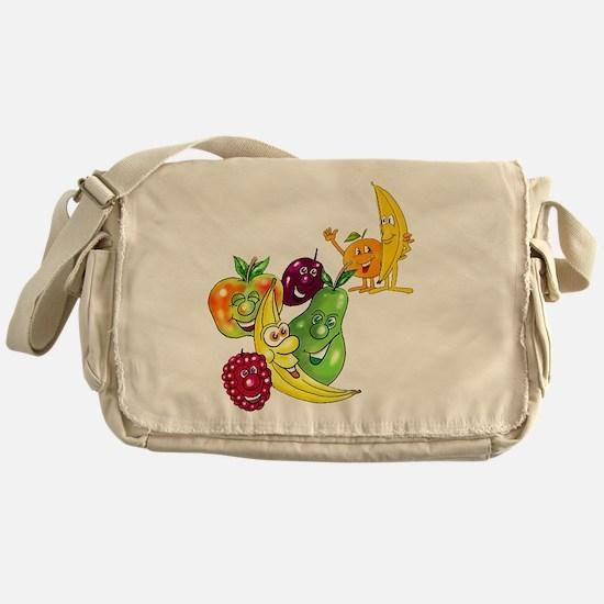 Healthy Happy Fruit Messenger Bag