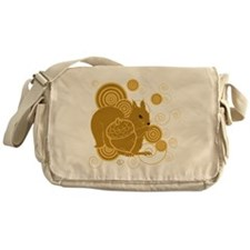Squirrely Squirrel Messenger Bag