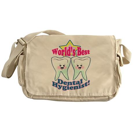 Worlds Best Dental Hygienist Messenger Bag