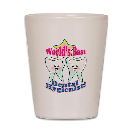 Worlds Best Dental Hygienist Shot Glass