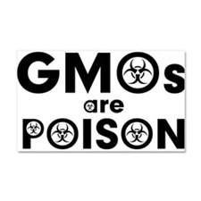 GMOs Are Poison Car Magnet 20 x 12