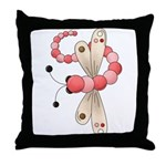 Pretty PInk Dragonfly Throw Pillow