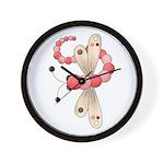 Pretty PInk Dragonfly Wall Clock