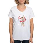 Pretty PInk Dragonfly Women's V-Neck T-Shirt