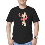 Pretty PInk Dragonfly Men's Fitted T-Shirt (dark)