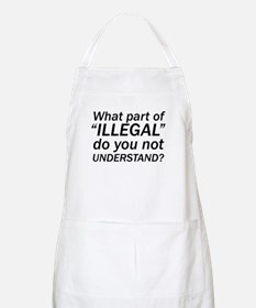 No ILLEGAL BBQ Apron