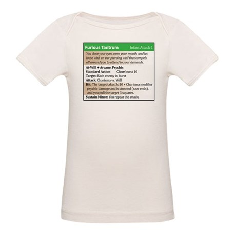 """""""Furious Tantrum"""" Power Card Organic Baby T-Shirt"""