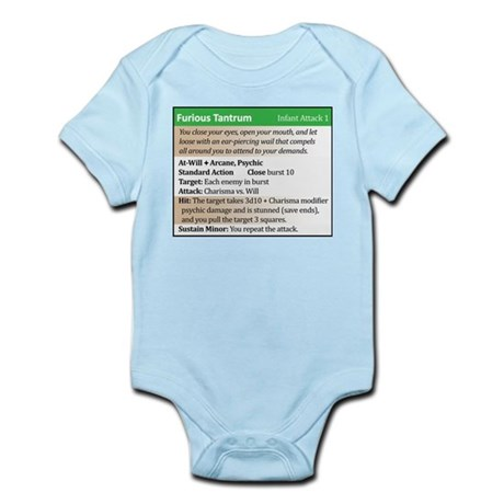 """Furious Tantrum"" Power Card Infant Bodysuit"