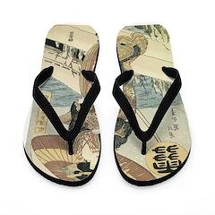 Walk by the Sea Flip Flops