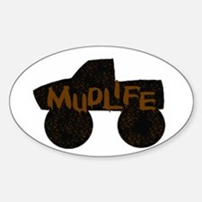 Mud Life Oval Decal