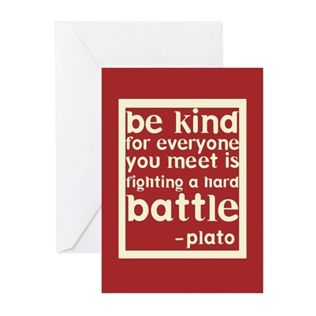 Be Kind by Plato Greeting Cards (Pk of 20)