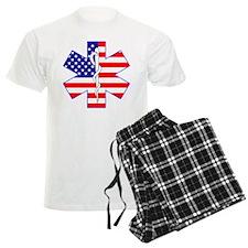US Flag Star Of Life Pajamas