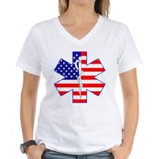 US Flag Star Of Life Shirt
