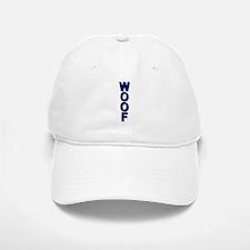 WOOF_VERTICAL_BLUE/BLUE tile_ Baseball Baseball Cap