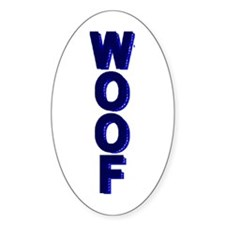 WOOF_VERTICAL_BLUE/BLUE tile_ Oval Decal
