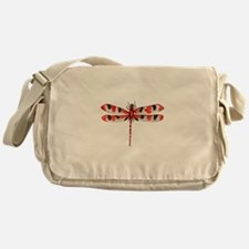 Red Dragonfly Messenger Bag